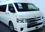 Toyota hiace pasajeros 2015 72400 kms