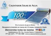 Calentador solar 2 duchas al día