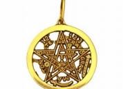 Pentagrama tetragramaton oro 10k