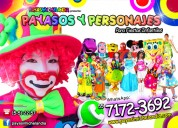 Payasos y payasitas para fiestas infantiles - cdmx / edomex