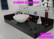 !!! gran oferta de  cubierta de granito negro para lavabo desde $ 2980.00 ml.