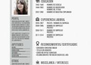 Cv profesional: plantillas para curriculums, portafolios, cartas de presentación.