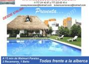 casas económicas frente alberca, sur cuernavaca,  pre-venta  62mts. construccion