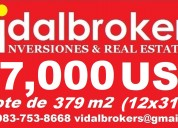 !!oferta!! venta de terreno en mahahual  27,000 usd