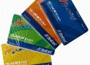 Tarjetas prepago chips 4g arma promociones