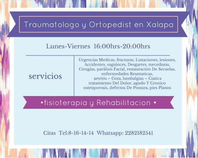 Ortopedia y Traumatologia  xalapa
