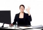 Secretaria maneje computadora 5,500.00 mensuales