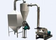 Molino de acero inoxidable para harina 350-500 kg hora consumo humano