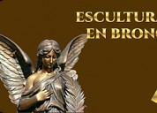 Bustos y placas de bronce