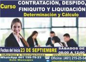 Taller contratación, despido, finiquito y liquidación