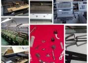 Venta de repuestos para máquinas bordadoras.