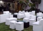 Renta de salas lounge con centro iluminado, oportunidad!.