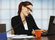 secretaria sin experiencia  con disposicion de tiempo completo.