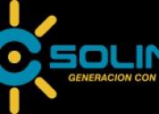 Paneles solares y postes solares, ahorro de 95% de energía