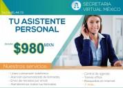 Asistente virtual desde $ 980 pesos mens