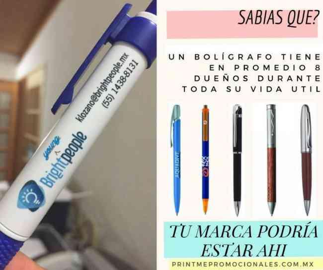 Bolígrafos promocionales para oficina