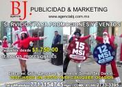 Edecanes y personal para promociones y eventos
