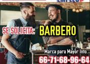 Excelente vacante de barbero