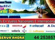 Boletos de avion hotel paquetes 50% todos los destinos