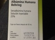 Albumina fco. al 25% vendo