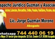Abogados tramites exhorto 7444400619 certificado embargo inmueble acta nacimiento divorcio defunciÒ