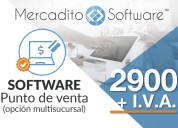 Software punto de venta con modulo de venta de servicios
