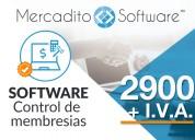 Software control de membrecías para  a.c y clubs