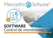 Software control de socios y membresias