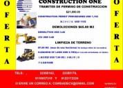 Tramite de permisos demoliciones y limpieza para c