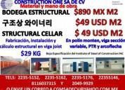 Construccion de bodega estructural material y mano