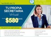 Tu propia secretaria virtual desde 580 pesos