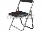 Venta de sillas plegables acojinadas acabado en cromo para negocio de alquiler