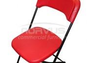 venta de sillas plegables rojas de plastico para uso exterior  o interior nuevas