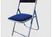 Venta de sillas plegables multiusos varios modelos acojinada plastico y lamina nuevas