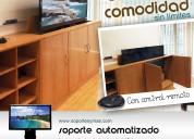 Soporte automatizado con control remoto para tv