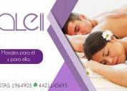 Depilaciones con cera elastica y terapias de masajes relajantes