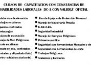 Dc3  capacitaciÓn  seguridad industrial