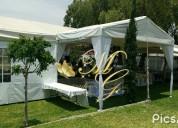 Jardín de eventos, 8hrs de servicio, excelente ubicación san cristóbal centro
