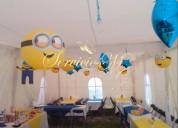 Paquete kids fiestas infantiles- renta de carpa, decoración, inflable, mesa de dulces, payaso y má