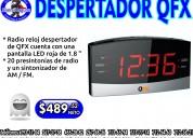 Radio reloj despertador qfx