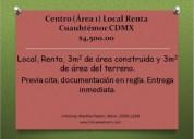 Centro/ cuauhtÉmoc/ mexico/distrito federal/ local comercial/ renta 3 m2