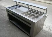 Muebles fabricados en acero inoxidable..