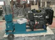 peletizadora meelko 260mm 35 hp diesel para alfalfas y pasturas 400-450kg.