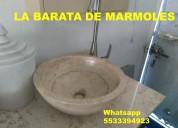 Lavabos en remate de marmol y onix