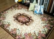 Limpieza y desinfección de tapetes finos y de lana.