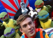 Divertido show de las tortugas ninjas en puebla