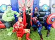 Divertido show de avengers en puebla