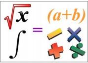 Asesorías clases regularizaciones de matemáticas física inglés particulares a domicilio metepec