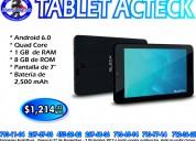 Tablet acteck bleck negra