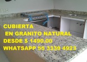 Cubiertas para cocina de granito natural